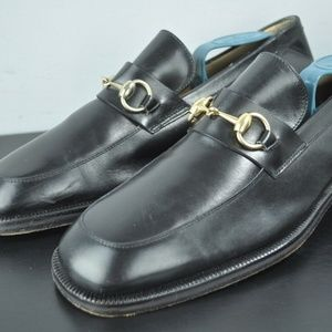 GUCCI Black Leather Horsebit Loafers US 9 41E